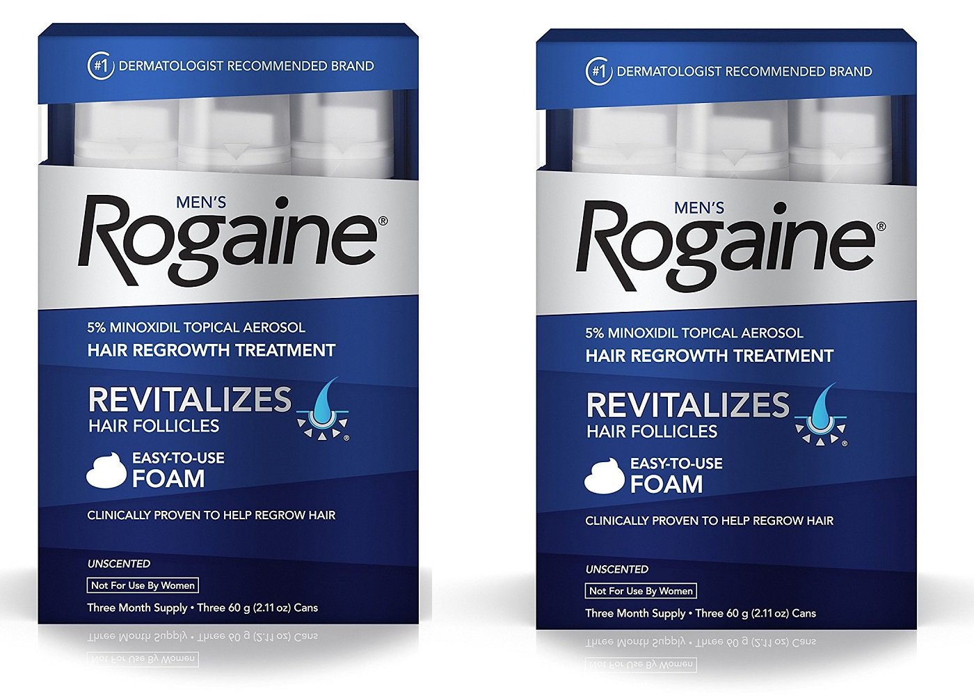 Men's Rogaine Hair Loss & Hair Thinning Treatment Minoxidil Foam, Six Month Supply