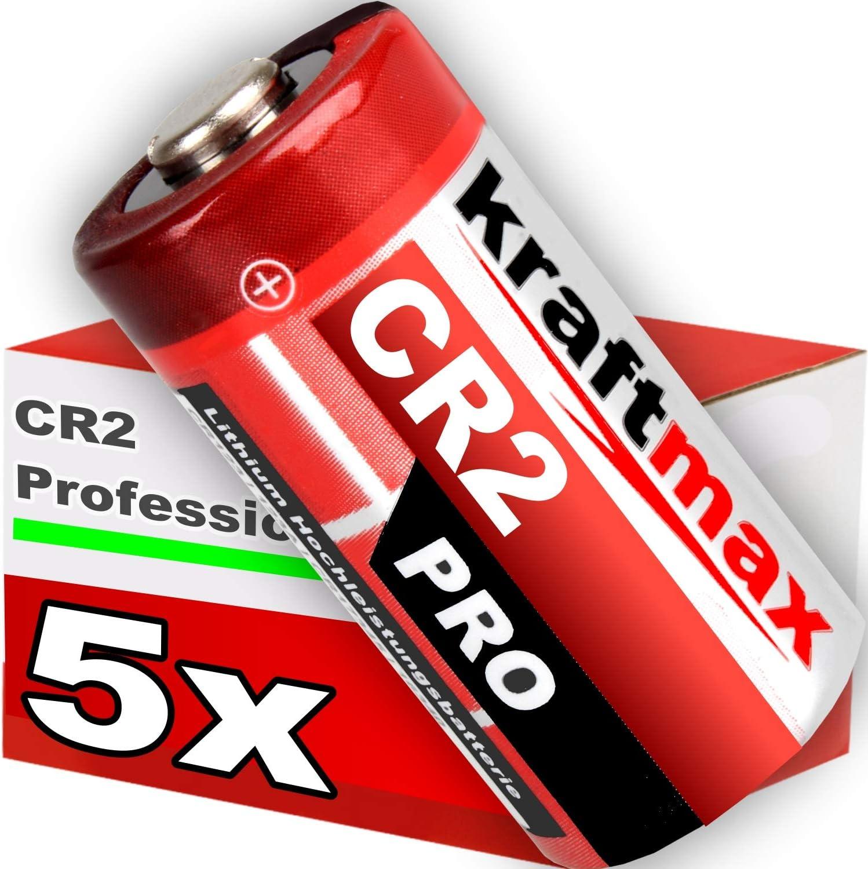Batterie f/ür professionelle Anwendungen kraftmax 4er Pack CR2 Lithium Hochleistungs Neueste Generation