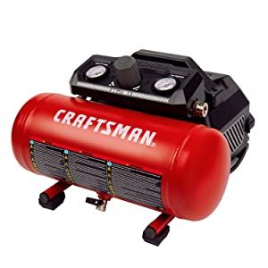 Craftsman Air Compressor, Portable Oil Free 1.5 Gallon 3/4 HP 1.5 CFM@90PSI Max 135 PSI Pressure, Red- CMXECXA0200141A