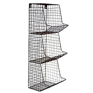 Wire Wall 3 Storage Bin Fruit/Vegetable Basket Primitive Rustic Farmhouse Decor