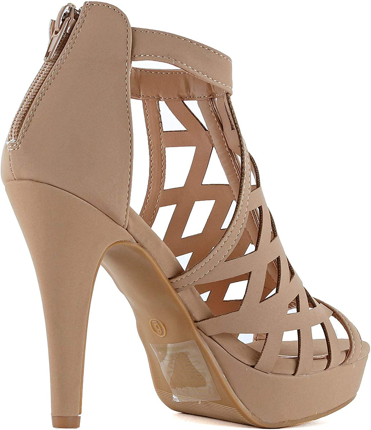 Guilty Shoes Womens Platform Ankle Strap High Heel - Open Toe Sandal Pump - Formal Party Chunky Dress Heel Sandals