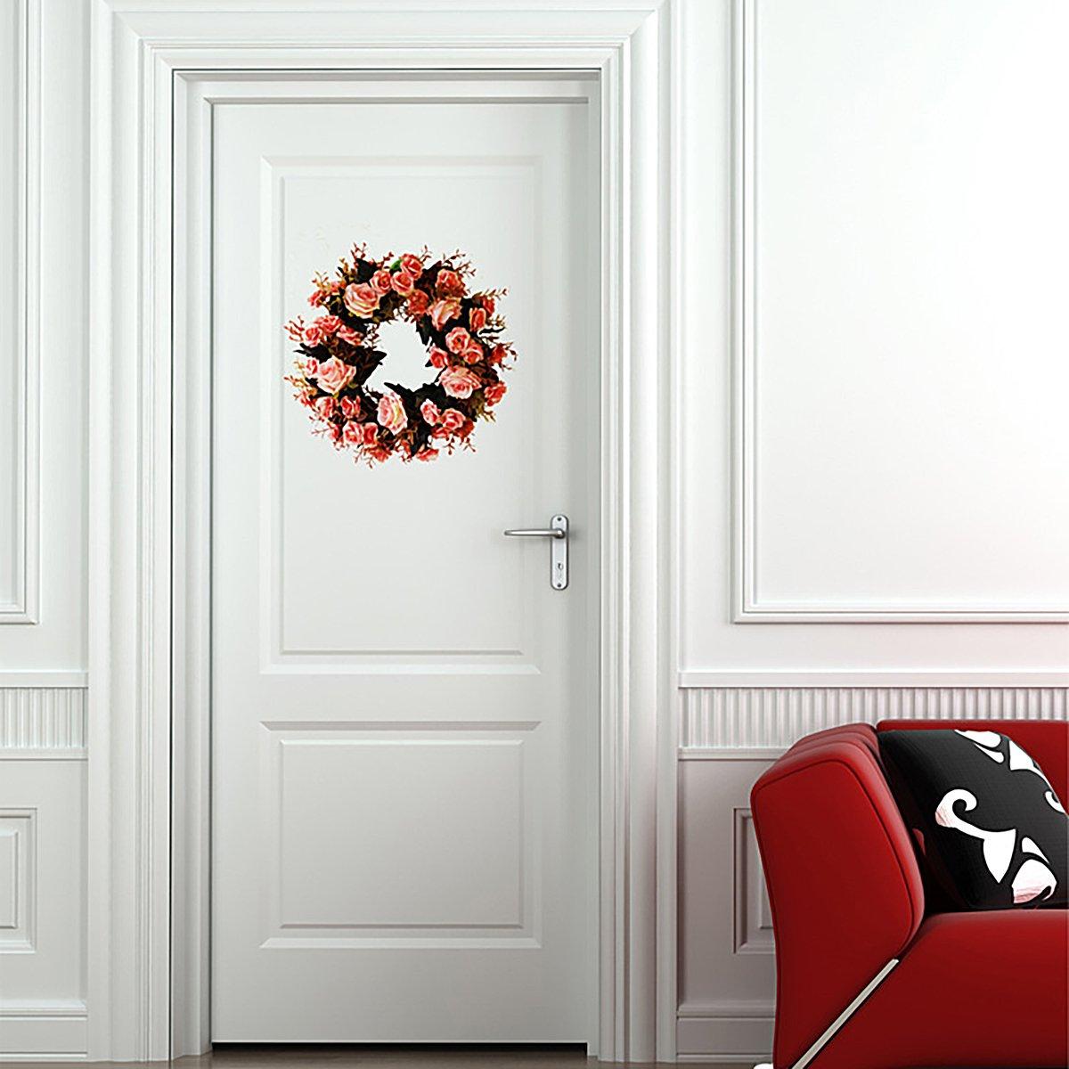 Living room Decoration Red 1 Pcs TianBao Door Wreath Brightens Front Door Decor for Wedding//Birthday