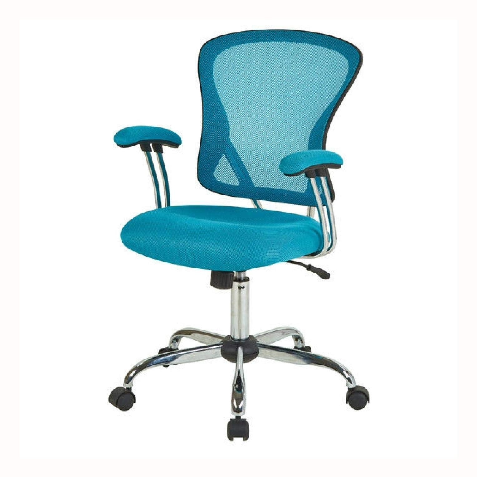 Office Chairs, Blue High Back Mesh Office Chair with Padded Armrest by HEATAPPLY