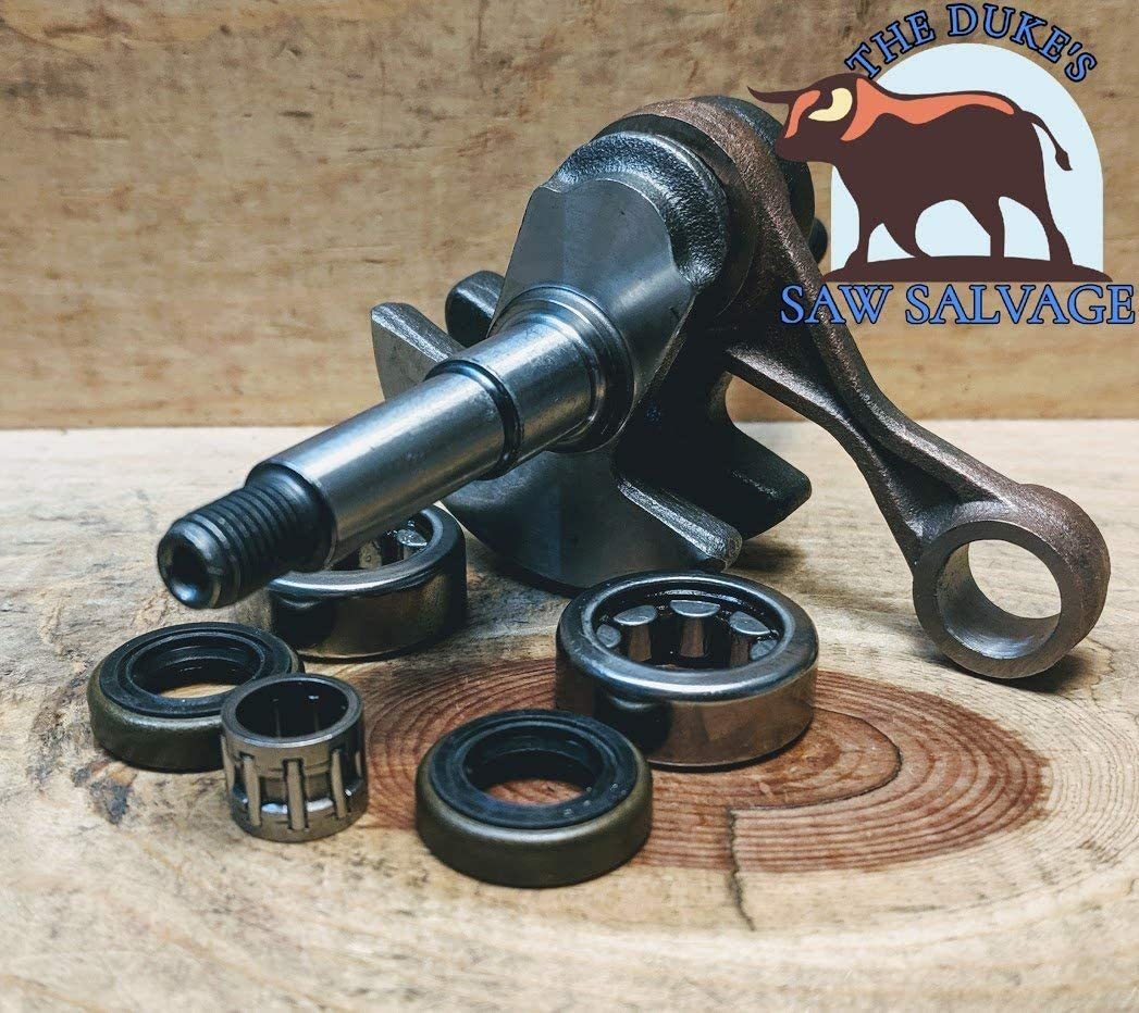 The DUKES STIHL MS200T MS200 020T CRANKSHAFT with Bearings and Seals