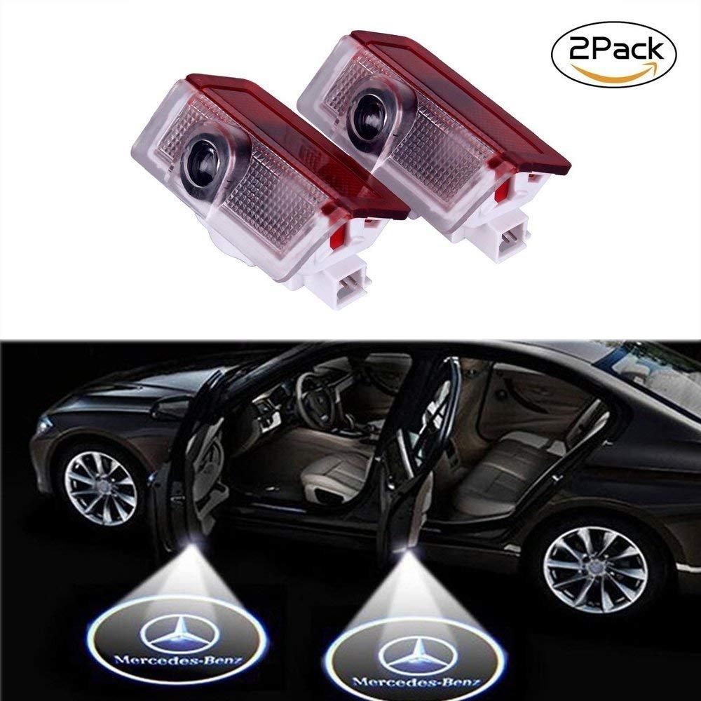 Lyauta 2 Pieces Car Door Lights LED Merc Puddle Lights Ghost Shadow Ligh For Merc-edes Benz S(W221)2008-2013 Autaparks