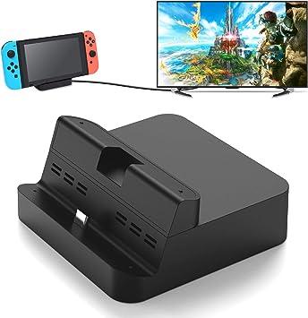 FYOUNG - Cargador para Nintendo Switch con HDMI, Switch TV Dock y Soporte de estación de Carga para Switch Consola: Amazon.es: Electrónica