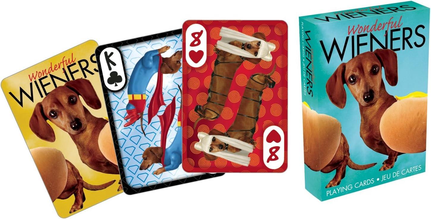 Aquarius Wonderful Wieners Playing Cards