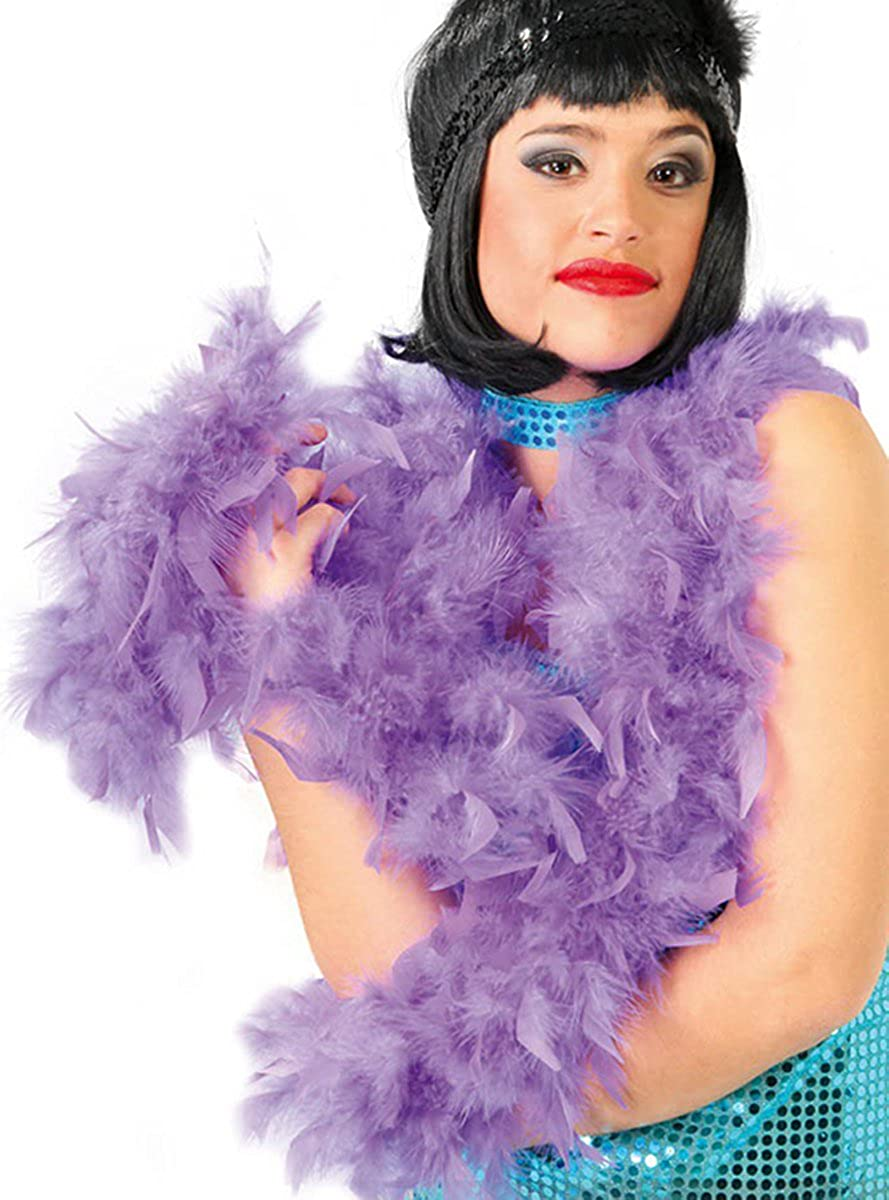 1920'S Charleston Or Gangster Moll Purple Feather Boa Guirca