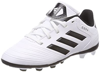 adidas Unisex-Kinder Copa 18.4 Fxg Fußballschuhe, Weiß (Footwear White/Core Black/Tactile Gold Metallic), 35 EU