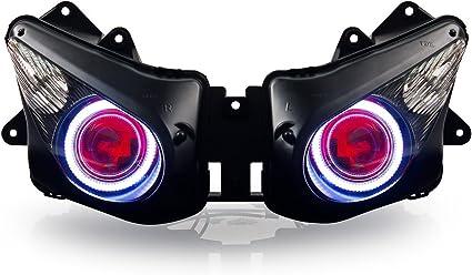 Amazon.com: KT – Faro LED Angel Eye – Asamblea para Kawasaki ...