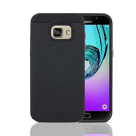 Lincivius Funda Samsung A5 2016, Fundas Samsung Galaxy A5 2016 Carcasa [Carbon Tweel Bumper] Case Silicona Effecto Carbono Anti Golpes Cover con ...