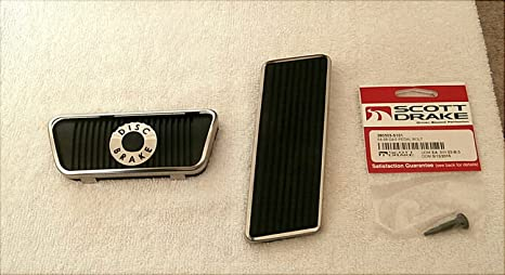 Clutch Pedal Pad w//Stainless Steel Trim 1965 1966 1967 1968 Ford Mustang Models