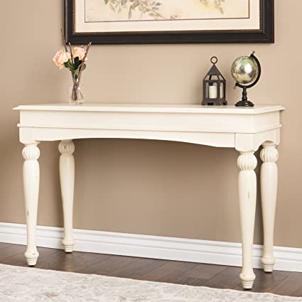 Farmhouse Sofa Table Provides Classic Style And Function. 48 Inch Long  Console Suitable For