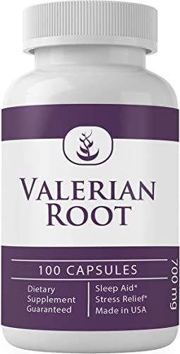 Valerian Root 100 Capsules, 700 mg Serving 100 Pure Natural, Gluten-Free by Pure Organic Ingredients