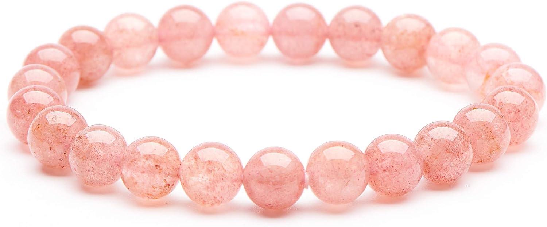 """10 mm Brazilian Aquamarine Gems Round Beads Stretch Bracelets 7.5/"""""""