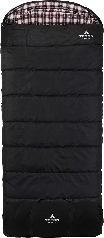 TETON Sports Evergreen Canvas Sleeping Bag; Warm and Comfortable Sleeping Bag Gr
