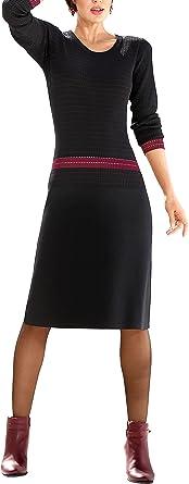 AV markowa sukienka z dzianiny czarno-czerwona rozm. 42 0919357844 - etui 42: Odzież