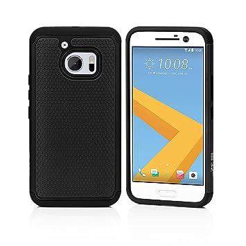 32nd® Funda Rígida Anti-Choques de Alta Proteccion para HTC 10 Carcasa Defensora de Doble Capa - Negro