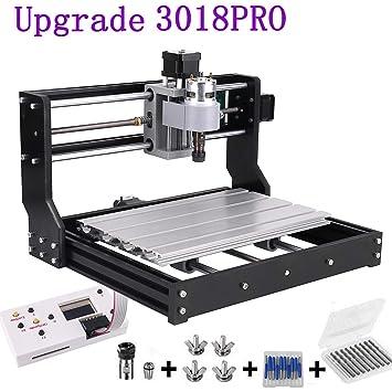 Upgrade Version CNC 3018 Pro GRBL Control DIY Mini CNC Machine, Mcwdoit  Wood Router Engraver with Offline Controller + 5mm ER11 PCB +20PCS 3 175MM  CNC