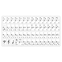 Neewer Piano and Keyboard Music Note Full Set Stickers with User Guide for 49, 61, 88 White and Black Keys