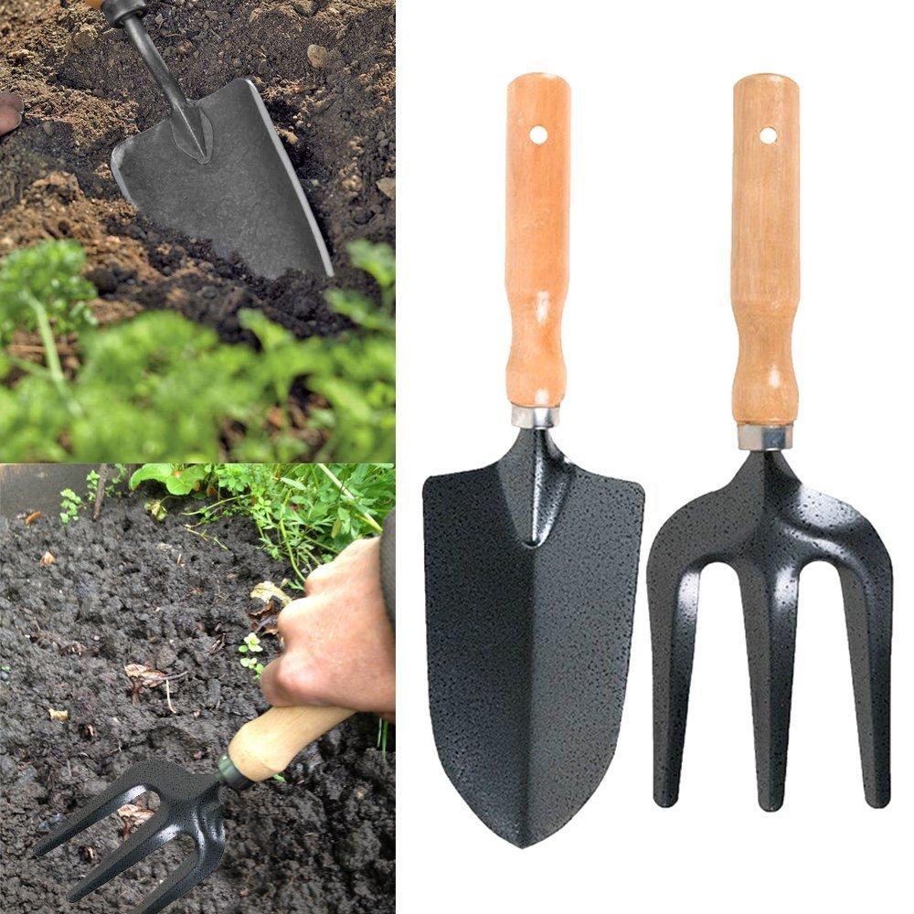 Strong & Durable Gardening Tool Set Garden Fork And Trowel Set - 2 Piece Heavy Duty Metal Gardening Gardeners Garden Hand Tools BSD Brands (UK)