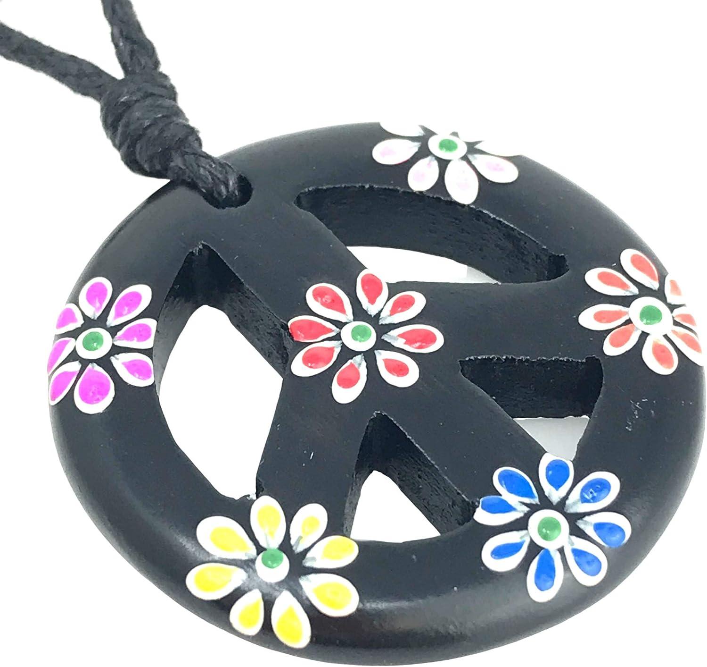 Boho Hippie Peace sign Necklace