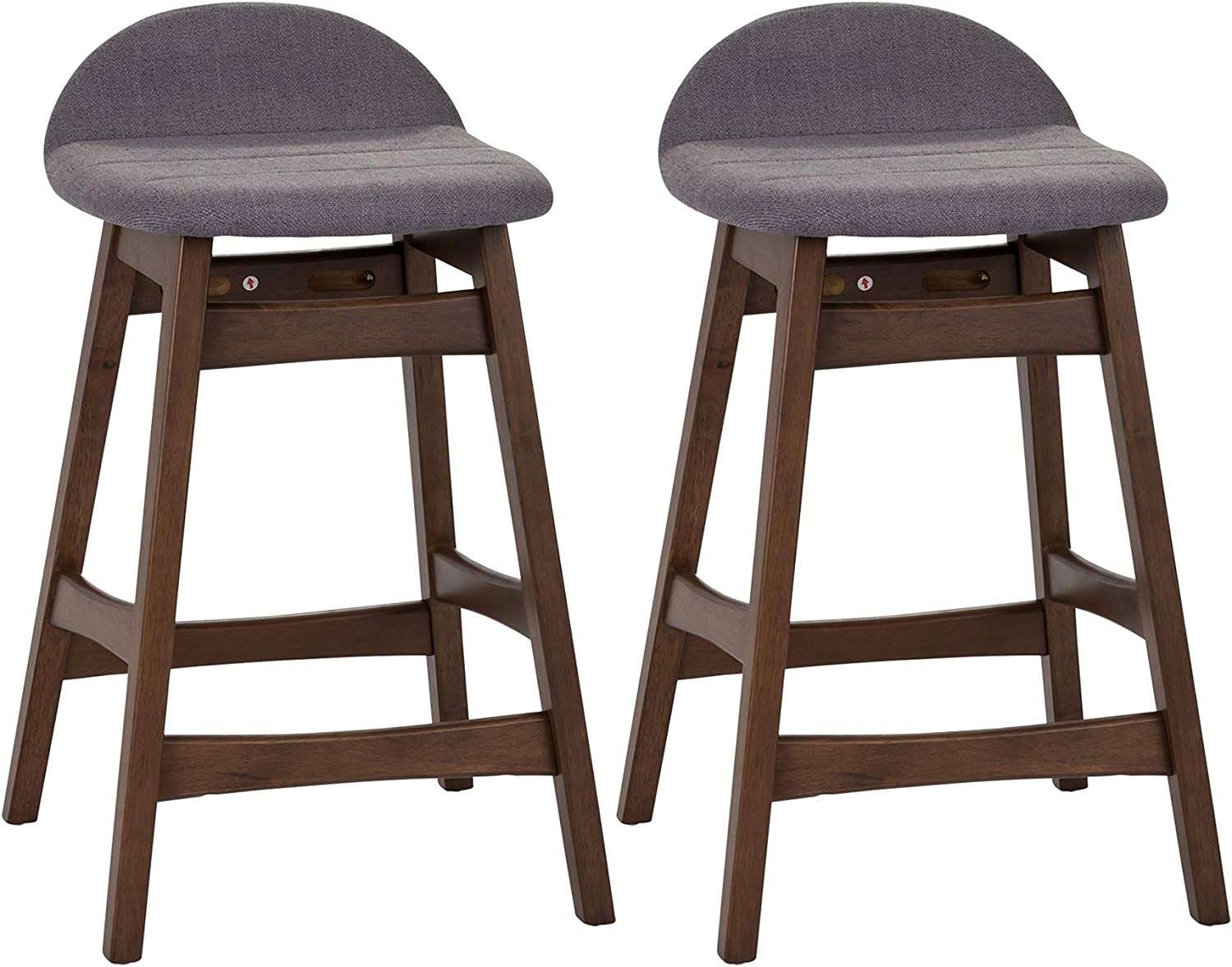 Liberty Furniture Industries Space Savers (Set of 2) Counter Chairs (RTA), Grey