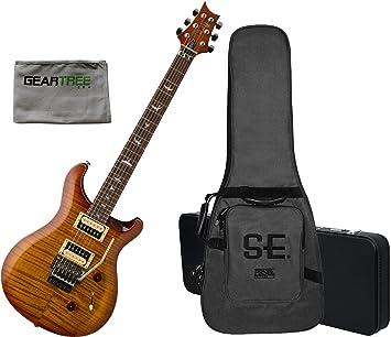 PRS SE Custom 24 Floyd guitarra eléctrica Vintage Sunburst w/gamuza de geartree, carcasa rígida, y Gig Bag: Amazon.es: Instrumentos musicales