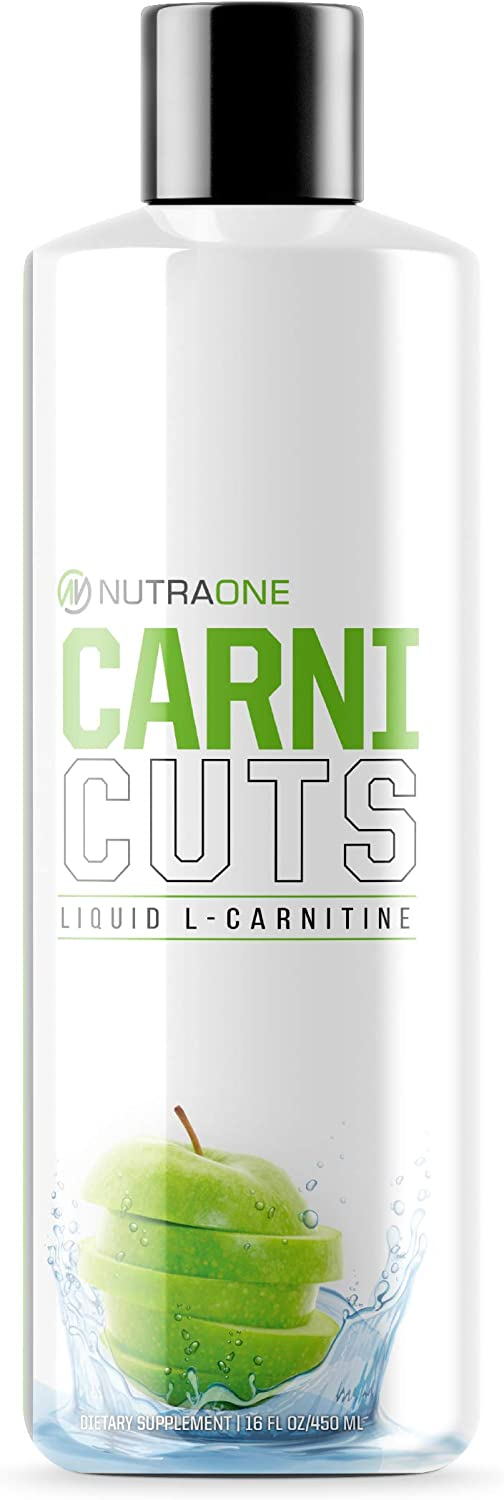 Carnicuts L-Carnitine Liquid Supplement by NutraOne – Weight Management, Stimulant Free Metabolic Aid (Green Apple - 32 Servings)