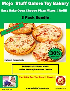 Mojo Stuff Galore Ultimate Easy Bake Oven Mixes | Cheese Pizza Refill EZ Bake
