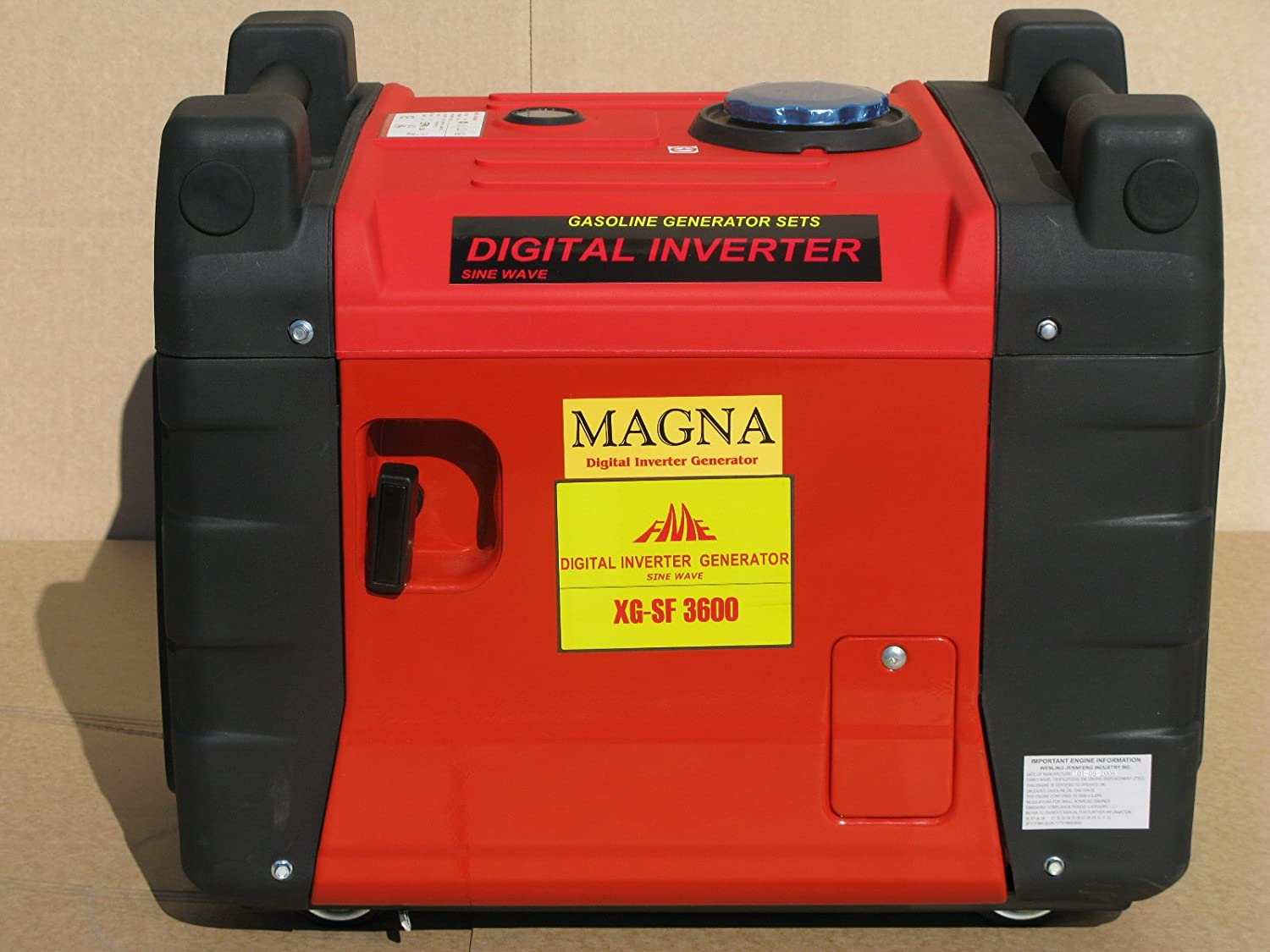 Magna 3300 Watt Inverter Generator With Electric Start Yamaha Ef1000is Technical Specs And Wiring Diagram Remote Quiet Heavy Duty Home Audio Theater