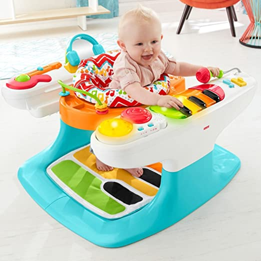 89973005c Amazon.com   Fisher-Price 4-in-1 Step  n Play Piano   Baby