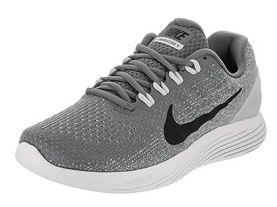 NIKE Women s Lunarglide 9 Cool Grey Black Pure Platinum Running Shoe ... 7b482d0c4