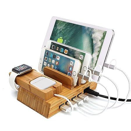 Día Lucy Multi-Puerto de bambú de la Tableta de Carga del ...