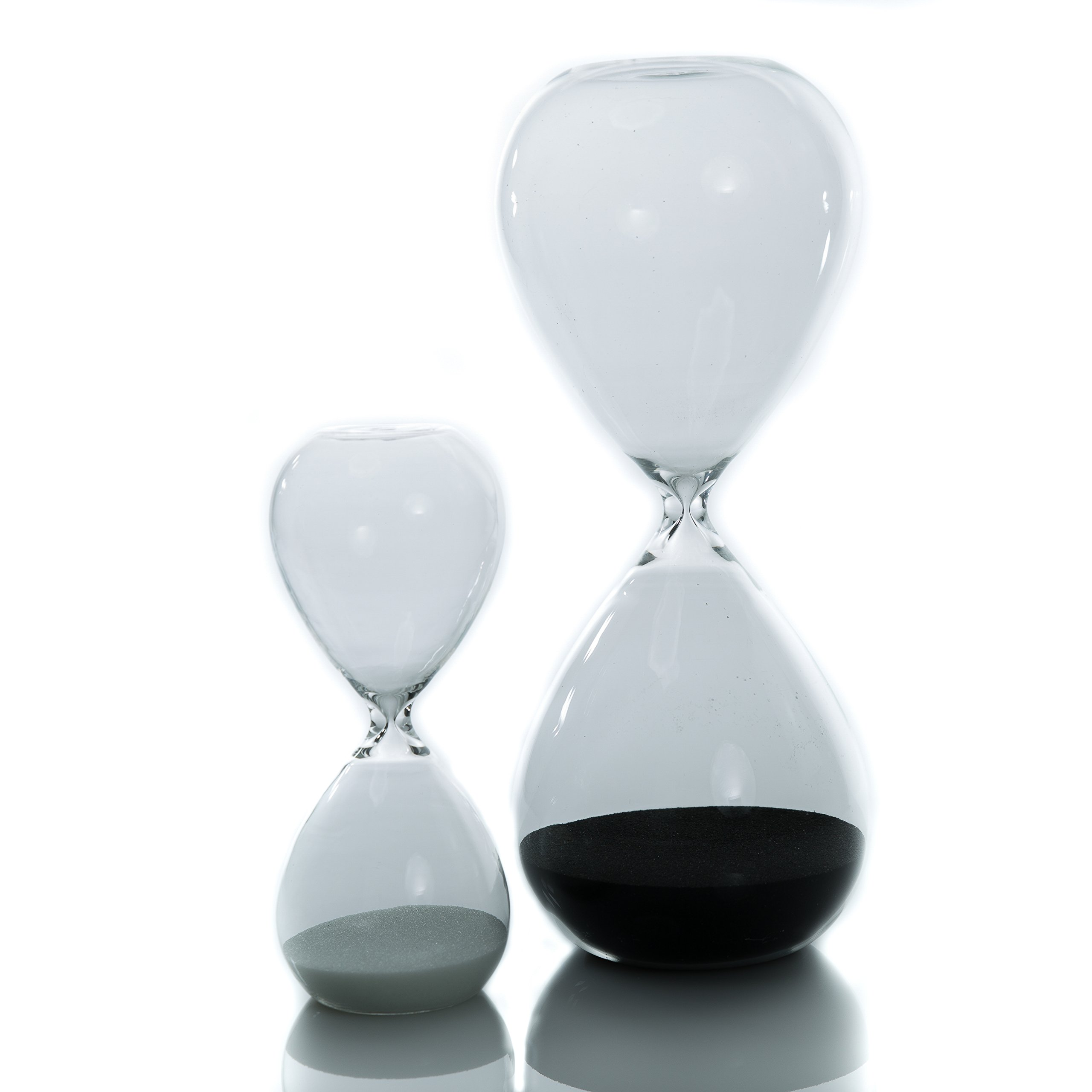 Hourglass Sand Timer Set For Time Management A 30 Minute Deep Black & A 5 Mi.. 14