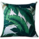 Nordic Simple Cotton Linen Pillowcase Tropical Palm Leaf Sofa Cushion Decorative Pillow Covers Home Decor