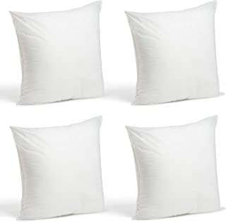 """product image for Foamily Set of 4-18 x 18 Premium Hypoallergenic Stuffer Pillow Inserts Sham Square Form Polyester, 18"""" L X 18"""" W, Standard/White"""