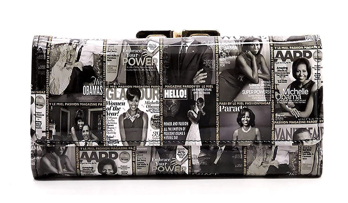 Glossy Michelle Obama Magazine Cover Collage Wallet Womens Wallet