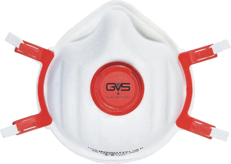 GVS Filter Technology DME3031 FFP3 Superior Reusable Dust Mask with Valve (pk 5)