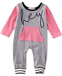 6b63abdf0125 Amazon.com  Baby Boys Girls I Love Milk Cute Rompers Toddler One ...