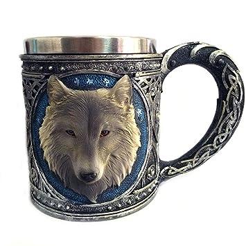 Taza de cerveza de acero inoxidable 3D 350ML, jarra, taza de ...