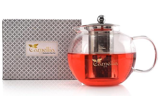 Amazon.com: Camellia Tetera Con Infusor De Acero Inoxidable ...