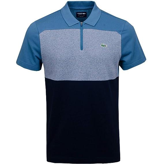 e663a88d70 Lacoste Men's Sport Zip Neck Colourblock Petit Piqué Golf Polo Shirt:  Amazon.co.uk: Clothing