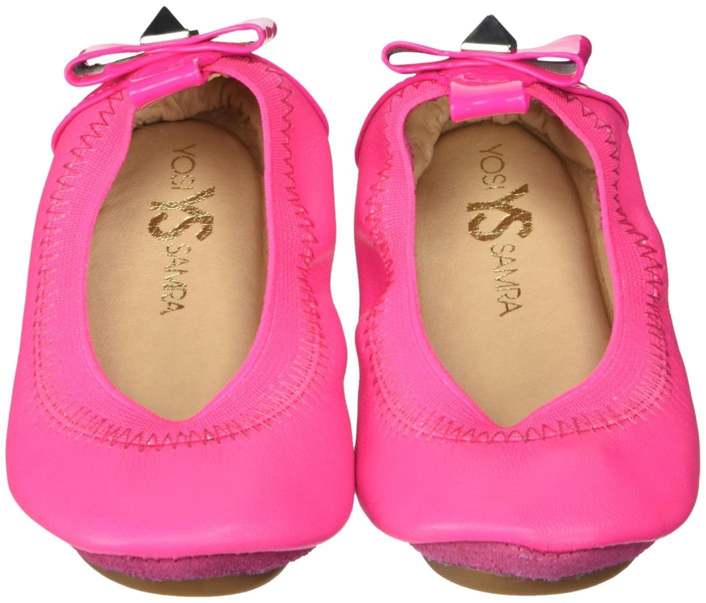 Yosi Samra Girls Selma Slip on Ballet Flat (Toddler), Shocking Pink, 8 M US Toddler
