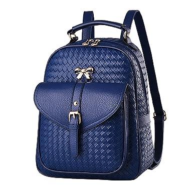 Umhängetasche Frauen Tasche U Leder Tasche Backpacker High School Student Bag,4-OneSize Laidaye