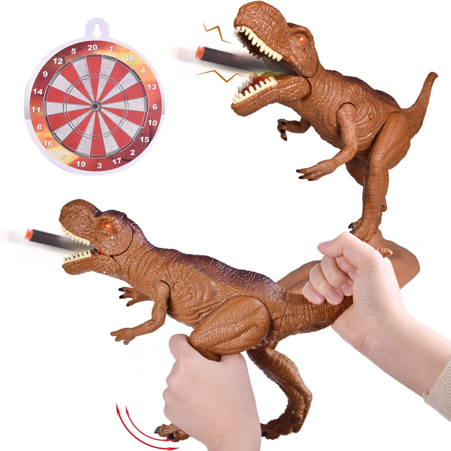Funlittletoy Dinosaur Toys, Realistic Dinosaur Toys for Kids, Tyrannosaurus Rex Toy Gift for Boys and Girls Ages 3 Years and Up