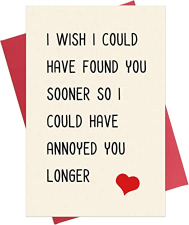 Funny Best Friend Birthday Card Funny Anniversary Card for Him /& Her