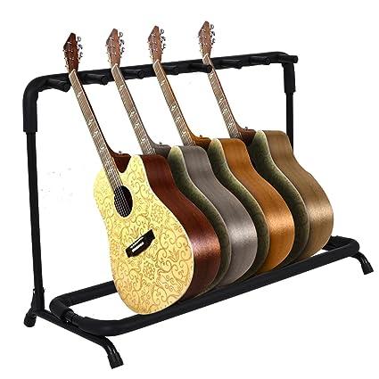 Multi Soporte para guitarra eléctrica acústica plegable organizador de almacenamiento para 7 soportes