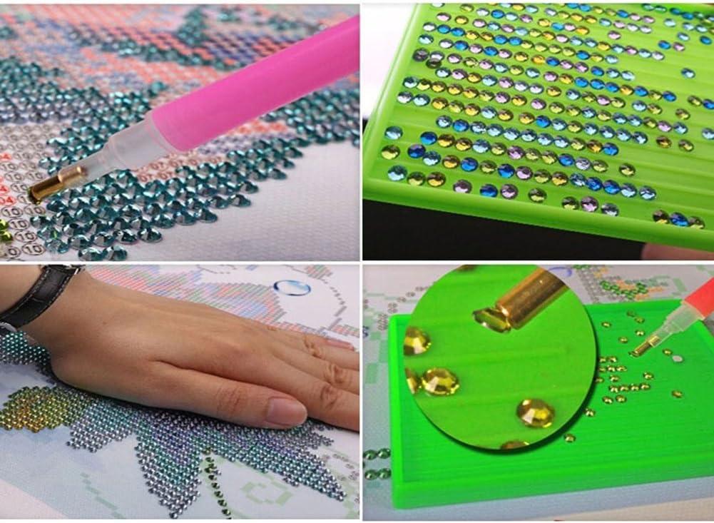 DIY Dekoration f/ür Ihr Zuhause Mosaik Strasssteine Gemini/_mall/® 5D-Kreuzstich-Diamant-Gem/älde-Set Handarbeit Pfau Angel Girl