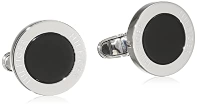 2c0fd11f Image Unavailable. Image not available for. Colour: Tommy Hilfiger Men's  Stainless-Steel Circular Cufflinks ...